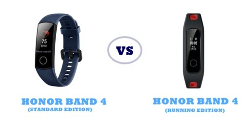 honor band 4 standard vs running edition compared