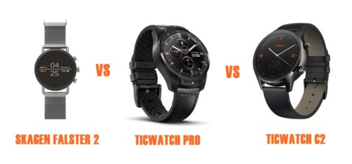 skagen falster 2 vs ticwatch pro vs C2 compared