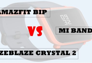 zeblaze crystal 2 vs amazfit bip vs mi band 3