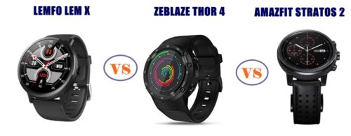 lemfo lem x vs zeblaze thor 4 vs amazfit stratos 2 - which is better