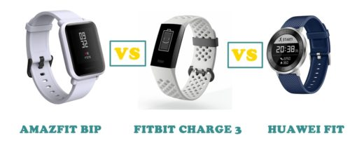 amazfit bip vs fitbit charge 3 vs huawei fit