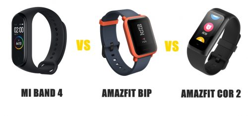 mi band 4 vs amazfit bip vs cor 2