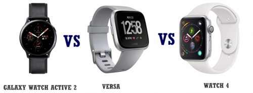 galaxy watch active 2 vs versa vs apple watch 4 compared