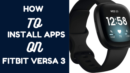 how to install and delete apps in Fitbit Versa 3