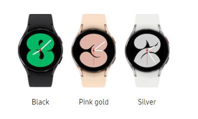 Galaxy Watch 4 (40mm) is available in three colors